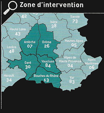 Zone d'intervention - Suchanek